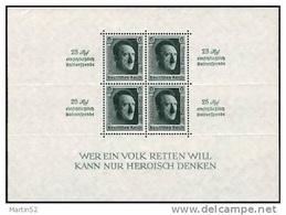 """Deutsches Reich Allemagne Germany 1937: """"Reichsparteitag"""" Michel-No 650 = Block 11 ** Postfrisch MNH (Michel € 320.00)) - Deutschland"""