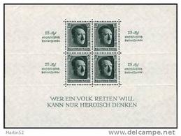 """Deutsches Reich Allemagne Germany 1937: """"Reichsparteitag"""" Michel-No 650 ** MNH Block 11 * Falz MLH (Michel € 320.00)) - Deutschland"""