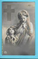 CHRISTIANISME--FOI---fillette + Jeune Femme--voir 2 Scans - Otros