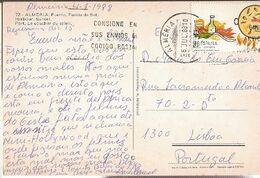 Spain  & Marcofilia, Almeria, Puerto, Puesta Del Sol, Lisboa 1988  (78) - 1931-Heute: 2. Rep. - ... Juan Carlos I