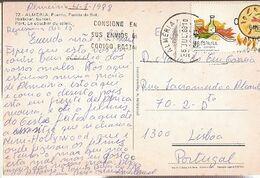 Spain  & Marcofilia, Almeria, Puerto, Puesta Del Sol, Lisboa 1988  (78) - 1931-Oggi: 2. Rep. - ... Juan Carlos I
