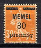 MEMEL  - 21* - TYPE SEMEUSE - Memel (1920-1924)