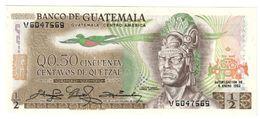 GUATEMALA0,5QUETZAL06/01/1982P58UNC.CV. - Guatemala