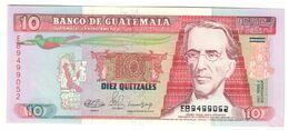 GUATEMALA10QUETZALES03/01/1990P75UNC.CV. - Guatemala