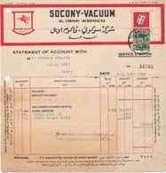 EGYPT, Perfin VO/Co  On Bill - Égypte