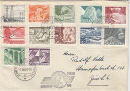 LETTRE. SUISSE. 1 8 49. BUNDESFEIER ZURICH  / 2 - Covers & Documents