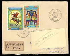 ALGERIE Enveloppe Cover Recommandé LAGHOUAT 20 12 1966 Pour La France - Algérie (1962-...)