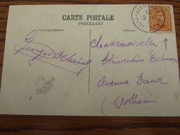 14-18: N° 135 Sur Carte Vue Oblitération De FORTUNE De BELGIQUE- BELGIE N° 6 (=DOLHAIN) - Fortune Cancels (1919)