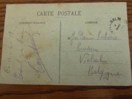 Carte Vue De Dakar (sénégal) Affranchie Au Recto Pour Le CACHET ELECTORAL De FORTUNE De VIELSALM En 1919 (au Verso) - Fortune Cancels (1919)