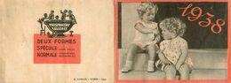 Petit Calendrier Ancien 1938 Publicitaire Illustré * Phosphatine FALIERES * Calendar * Enfants - Calendriers