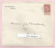 Belgique - Ambulants - Arlon-Bruxelles 2 - Sur Lettre De Jemelle à Herzele Du 1/8/1901 - Fine Barbe N°58 - Postmark Collection