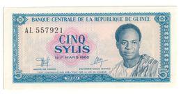 GUINEA5SYLIS1980P22UNC.CV. - Guinee