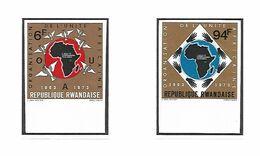 COB N°535/536 Organisation De L'Unité Africaine Non Dentelé Côte 15.00€ MNH - Rwanda