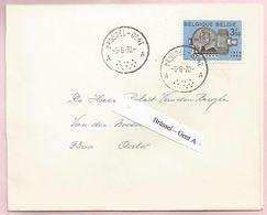 Belgique - Ambulants - Brussel-Gent A - Lettre De St Amandsberg Du 09/06/1970 Vers Aalst - N° 1516 SNCI-NMKN - Postmark Collection