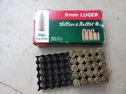 Boîte Et 25 Cartouches 9 Mm FMJ Neutralisées - Sammlerwaffen