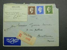 1945 Lettre Recommandée De Toulouse à Casablanca - Maroc Avec Marianne Dulac Yvert 692, 694 Et 695 - 1944-45 Maríanne De Dulac