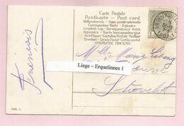 Belgique - Ambulants - Liège-Erquelinnes 1 - Sur Carte Du 09/09/1907 Vers Stavelot - Armoiries N°53 - Postmark Collection