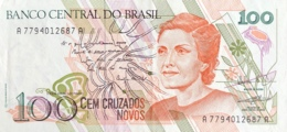 Brazil 100 Cruzados Novos, P-220b (1989) - UNC - Brésil