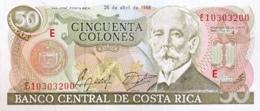 Costa Rica 50 Colones, P-253 (26.4.1988) - UNC - Costa Rica