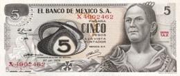 Mexico 5 Pesos, P-62c (27.6.1972) - UNC - Serie 1AX - Mexico