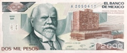Mexico 2.000 Pesos, P-86b (24.2.1987) - UNC - Serie BR - Mexico