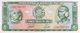 Peru 5 Soles De Oro, P-99c (15.8.1974) - UNC - Perù