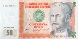 Peru 50 Intis, P-131a (6.3.1986) - UNC - Perù