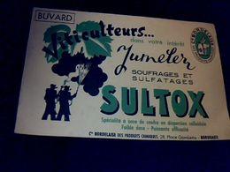 Publicité Buvard Viniculture Sultox Soufrage & Sulfatage Cie Bordelaise Des Produits Chimiques Bordeaux - Blotters