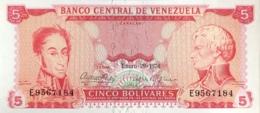 Venezuela 5 Bolivares, P-50h (29.1.1974) - UNC - Venezuela