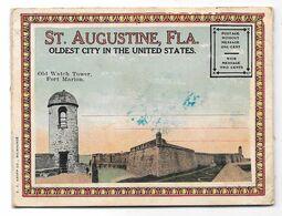 SI. AUGUSTINE, FLA. - OLDEST CITY IN THE UNITED STATES. - Souvenir Folder - 16 Views - Format: 8 X 11 Cm - St Augustine
