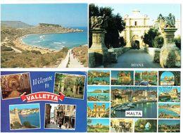 Lot 4 Cpm MALTE MALTA  - VALLETTA MDINA - Malta