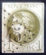Emission De Bordeaux Oblitérée, Numéro 39. - 1870 Bordeaux Printing