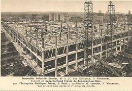 CPA  Vincennes Immeuble Morlet Exécuté En Superporland De Beaumont Sur Oise - Vincennes