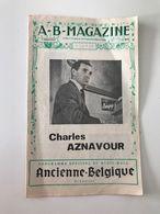 Programme Officiel Du Music-Hall Ancienne Belgique Bruxelles Charles AZNAVOUR - Programs