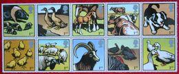 Farm Animals  Cow Sheep Duck Goat Dog Horse (Mi 2264-2273) 2005 POSTFRIS MNH ** ENGLAND GRANDE-BRETAGNE GB GREAT BRITAIN - 1952-.... (Elizabeth II)