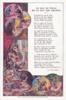 Chromo - Grand Format-publicité Chicorée WILLOT -fable De La Fontaine -le Rat De Ville Et Le Rat Des Champs-(lot Pat 117 - Old Paper