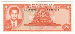 HAITI5GOURDES17/08/1979P241UNC.CV. - Haiti