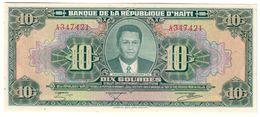 HAITI10GOURDES17/08/1979P242UNC.CV. - Haiti