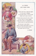 Chromo - Grand Format-publicité Chicorée WILLOT -fable De La Fontaine -la Poule Aux Oeufs D'or-(lot Pat 117 - Old Paper