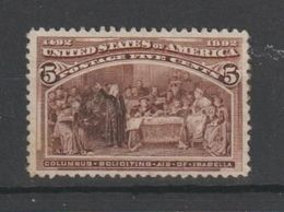 U.S.A.:  1893  CENTENARIO  -  5 C. BRUNO  S.G. -  YV/TELL. 85 - Unused Stamps
