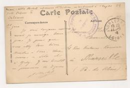 CACHET 5EME REGION HOPITAL COMPLEMENTAIRE N° 5 ORLEANS   C976 - Marcophilie (Lettres)