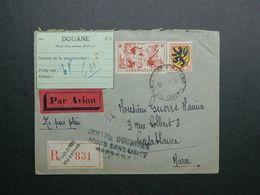 1945 Lettre Recommandée De Toulouse à Casablanca - Maroc Yvert 602, 739 Armoiries Flandre Libération Alsace Lorraine - France