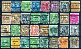 U.S.A. -  32 PRECANCELS  - Selection Nr 385 - United States