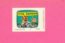 AUTOCOLLANT STICKER. LA VACHE QUI RIT. TINTIN.  LE  GENERAL TAPIOCA - Stickers