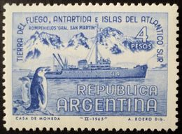 1965 Argentina MNH - Ship Navire Schiff Barco Icebreaker Antartida Antarctica Pinguino Penguin Pinguin Faune Fauna - Ongebruikt