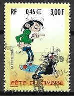 FRANCE   -   2001 .  Y&T N° 3370 Oblitéré.  CACHET ROND .   GASTON LAGAFFE  /  Bande Dessinée  /  Chat - France