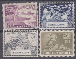 Sierra Leone N° 176 / 79 XX 75è Anniversaire De L' U. P. U. : Les 4 Valeurs Sans Charnière, TB - Sierra Leone (...-1960)