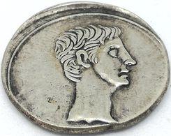 RÉPLICA Moneda Emperador Augusto. 1 Denario. Imperio Romano. 27 Antes De Cristo 14 D.C - 1. The Julio-Claudians (27 BC To 69 AD)