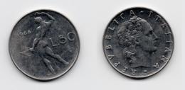 50 Lire – Italie – 1966 – Vulcain – Acier – Etat TTB – KM 95.1 - 1946-… : República