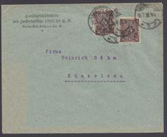 """Mi-Nr. 231b, MeF Mit 2 Werten Mit Perfin, Bedarfsbrief """"Berlin"""", Gepr. Infla - Storia Postale"""